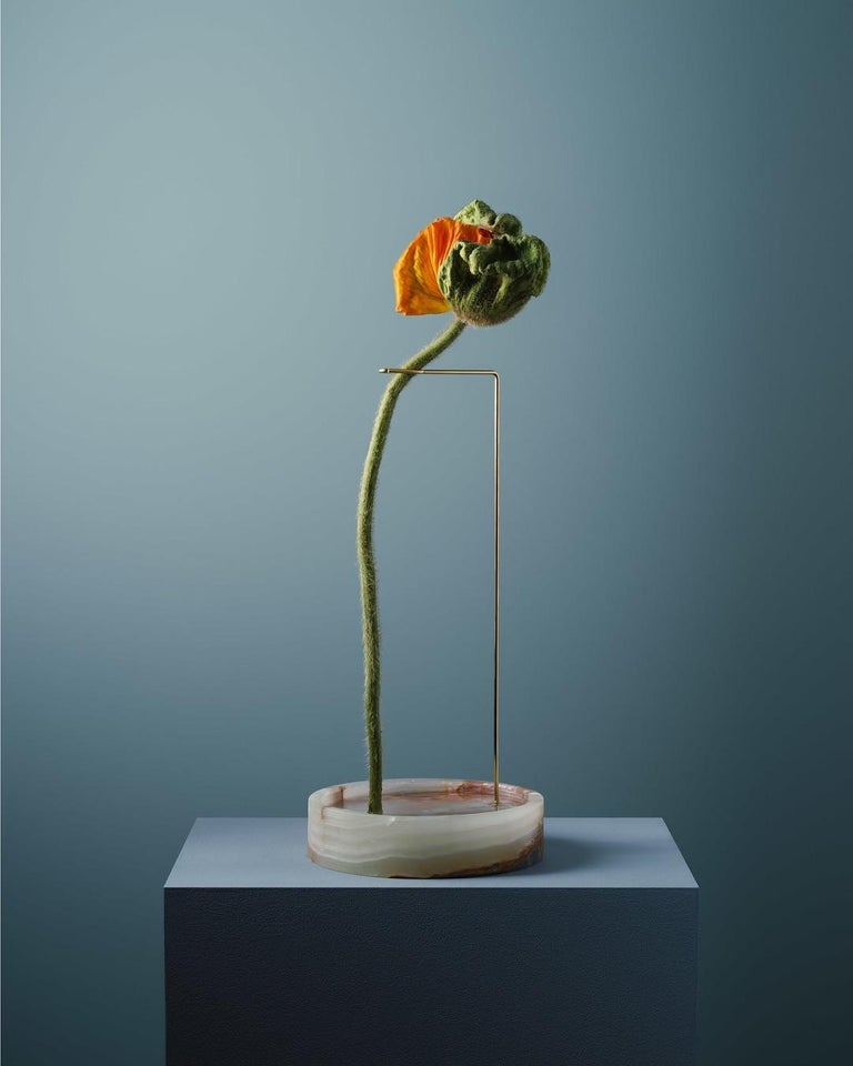 Round Onyx Posture Marble Vase, Carl Kleiner 7
