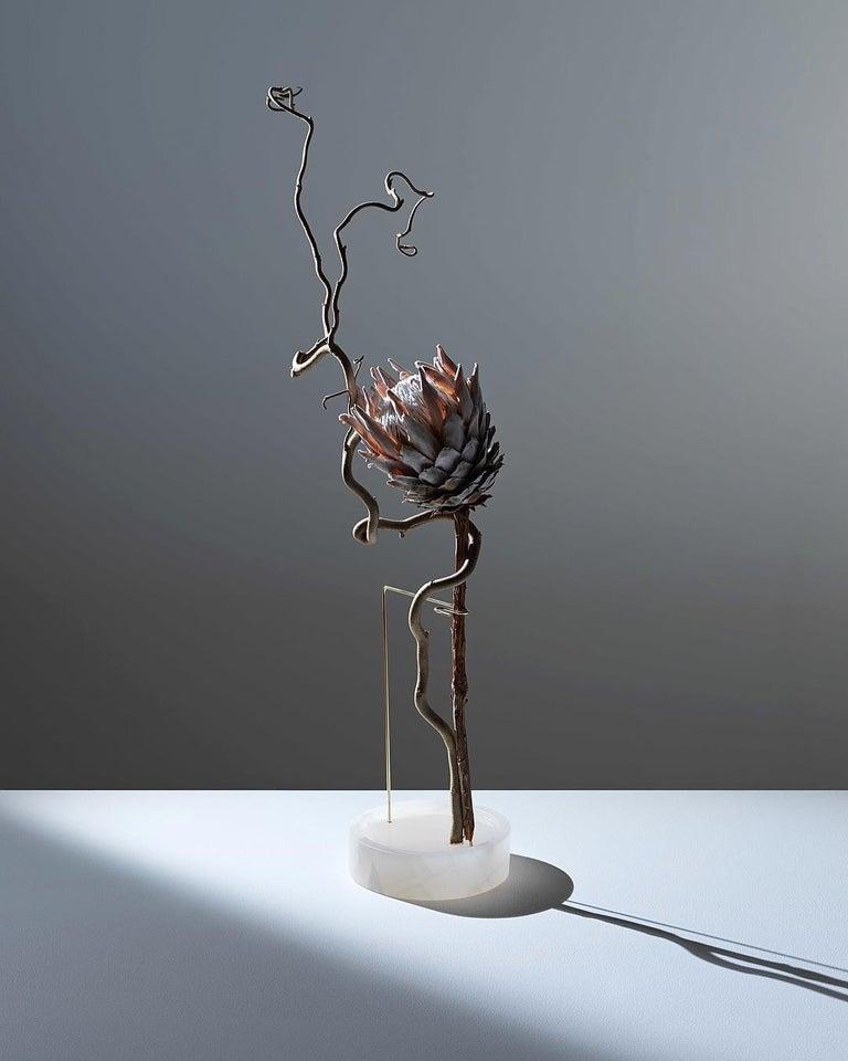 Round Onyx Posture Marble Vase, Carl Kleiner 11