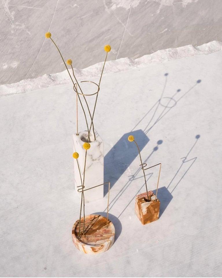 Modern Round Onyx Posture Marble Vase, Carl Kleiner