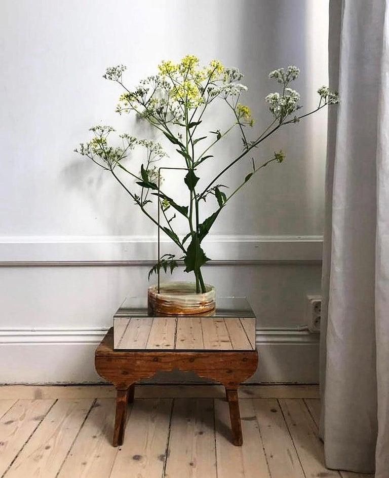 Italian Round Onyx Posture Marble Vase, Carl Kleiner
