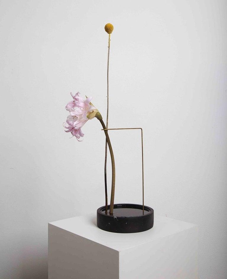 Contemporary Round Onyx Posture Marble Vase, Carl Kleiner