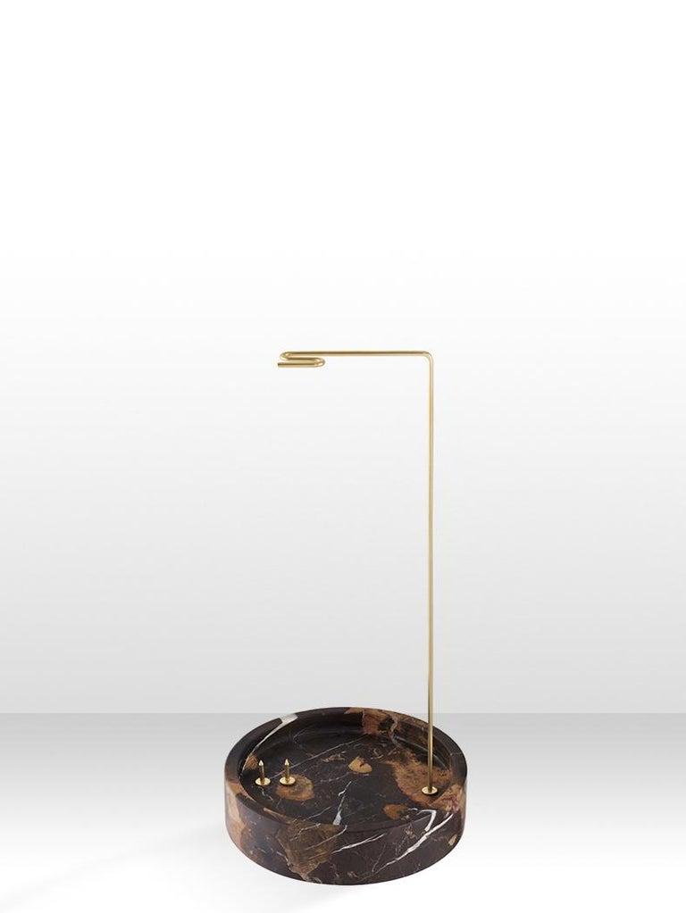 Carrara Marble Round Onyx Posture Marble Vase, Carl Kleiner