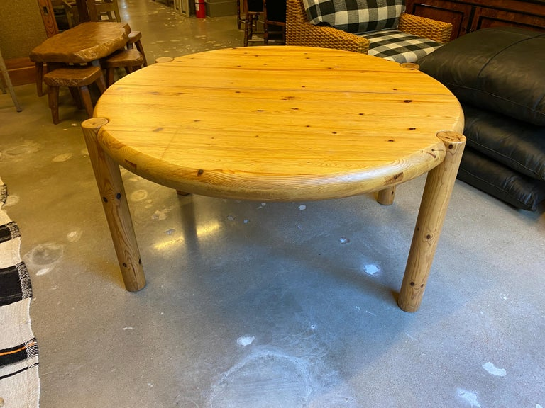 Scandinavian Modern Round or Oval Dining Table with Leaf by Rainer Daumiller, Denmark, 1960s For Sale