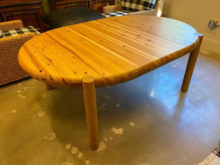 Round or Oval Dining Table with Leaf by Rainer Daumiller, Denmark, 1960s In Good Condition For Sale In Austin, TX