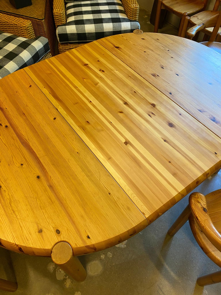 Mid-20th Century Round or Oval Dining Table with Leaf by Rainer Daumiller, Denmark, 1960s For Sale