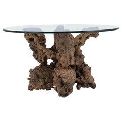 Round Organic Freeform Root Side Table, circa 1930s