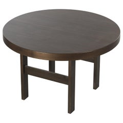 Round/Oval Table with Extension Leaves in Veneered Oak, Black Stained, 1960s