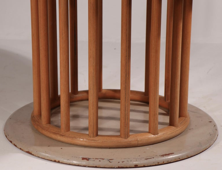 German Round Pedestal Dining Table by Helmut Lubke