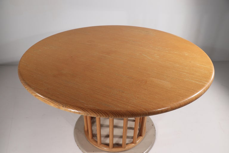 20th Century Round Pedestal Dining Table by Helmut Lubke