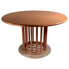 Round Pedestal Dining Table by Helmut Lubke