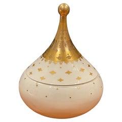 Round Porcelain Lidded Trinket Box by Bjorn Wiinblad for Rosenthal Studio Line