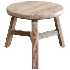 Round Reclaimed Elmwood Side Table