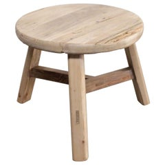 Round Reclaimed Vintage Elmwood Side Table