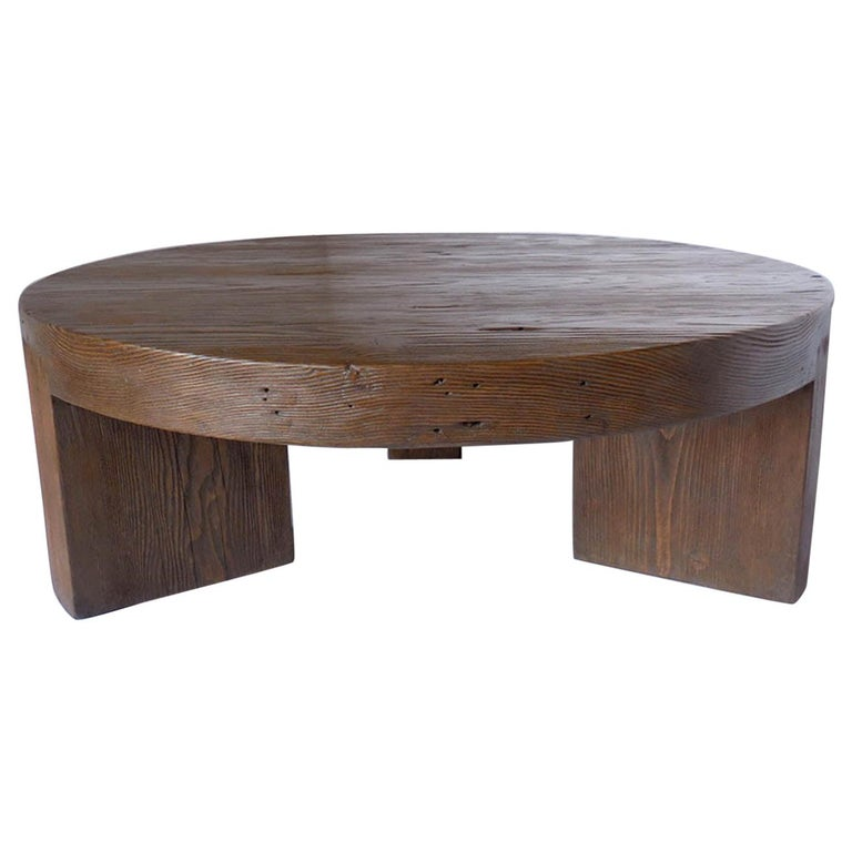Round Reclaimed Wood Coffee Table For, Round Reclaimed Wood Coffee Table