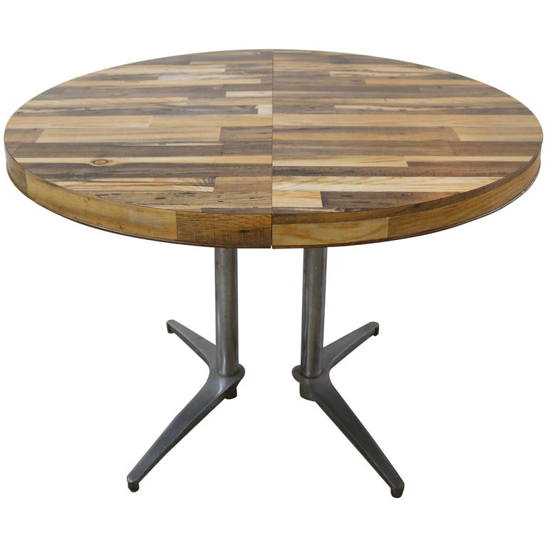 Wood Dining Table For Sale: Round Reclaimed Wood Extension Dining Table For Sale At