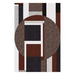 Round Red and Brown Rug