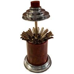 Round Red Bakelite Cigarette Dispenser
