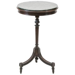 Round Regency Marble Top Occasional Table