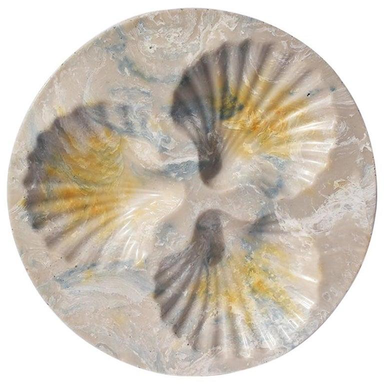 Round Resin Stone Seashell Decorative Dish For Sale