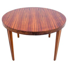 Round Rosewood Dining Table by Severin Hansen, Denmark, 1960