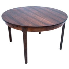 Round Rosewood Dining Table, Denmark, 1960s