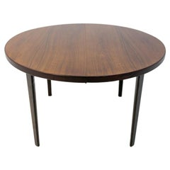 Round Rosewood Folding Dining Table in Danish Design