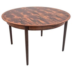 Round Rosewood Folding Dining Table Scandinavian Design