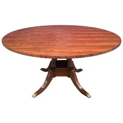 Round Rosewood Georgian Style Pedestal Dining Table by Leighton Hall