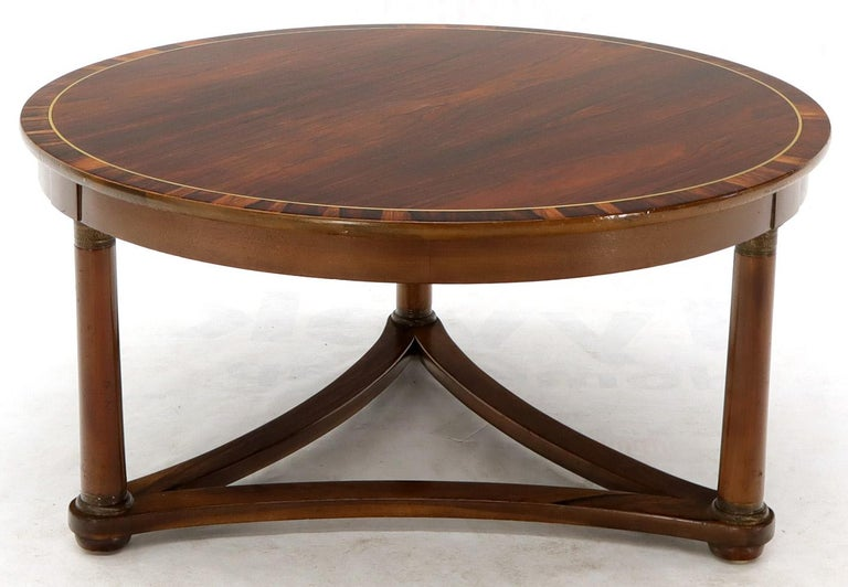 Round Rosewood Neoclassical Rosewood Banded Top Coffee ...
