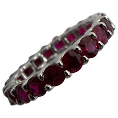 Round Ruby Eternity Band Ring