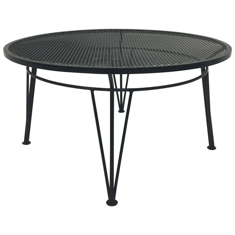 Round Salterini Vintage Outdoor Coffee Table