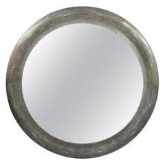 Round Shagreen Mirror by Ginger Brown
