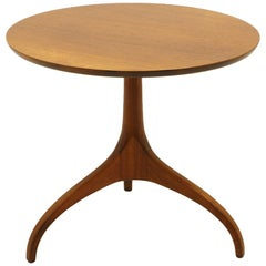 Round Side Table on Tripod Base by Henredon