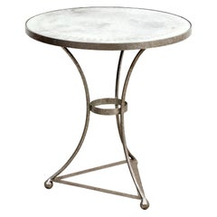 Round Side Table with Silver Gilt
