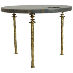 Round Single Sorgue Side Table, by Bourgeois Boheme Atelier