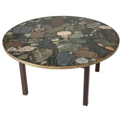 Round Stone Coffee Table by Erling Viksjø for Conglo, Norway, 1960s