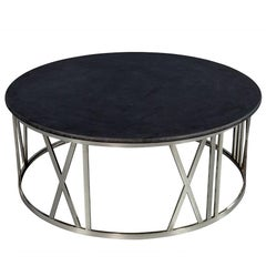 Round Stone Top Cocktail Table