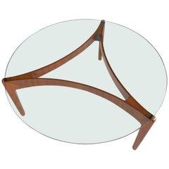 Round Sven Ellekaer Coffee Table in Teak