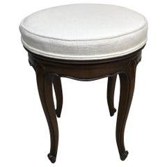 Round Swivel Louis XV Style Vanity Stool