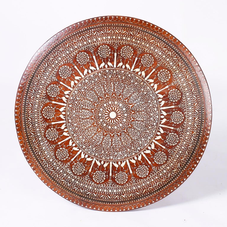 Round Syrian Inlaid Center Table For Sale 2