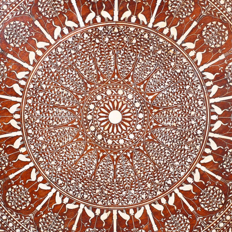 Round Syrian Inlaid Center Table For Sale 3