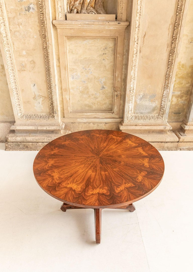 Italian Round Table Attributed to Melchiorre Bega For Sale
