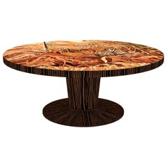 Round Table in Ebony Wood