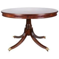 Round Table in Mahogany Flame Veneers Regency Styled