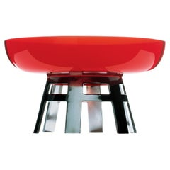 Round Table Limited Edition Red Centerpiece by Ettore Sottsass