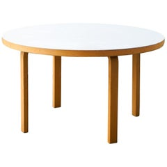 Round Table Model 91 White Laminated, Alvar Aalto for Artek, Finland