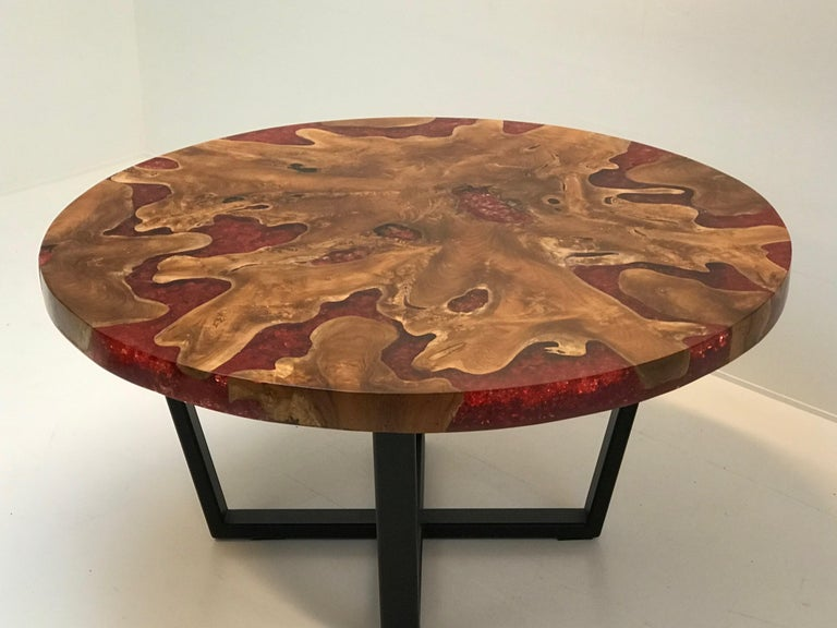 Round Table, Teak and Resin 11