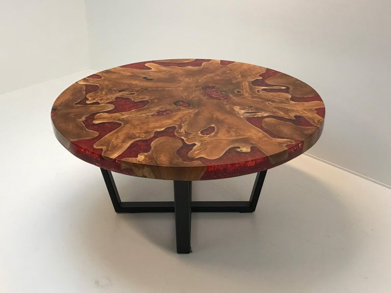 Round Table, Teak and Resin 13