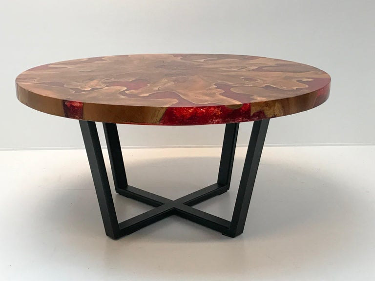 Round Table, Teak and Resin 15