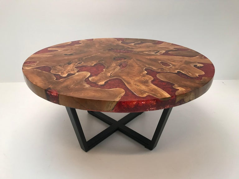 Round Table, Teak and Resin 3